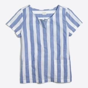 J Crew G3498 striped button up top